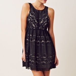 "Free People Black Cut-Out ""Rocco Lace Dress"""